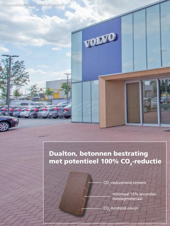 Dualton, betonnen bestrating met potentieel 100% CO2-reductie